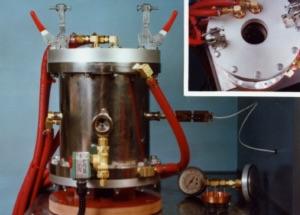 Высокотемпературные вакуумные вертикальные печи с зоной нагрева из вольфрама серии 15